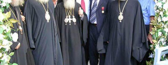 استقبال صاحب الغبطة في موقع بناء كنيسة القديس نيقولا في ماركا
