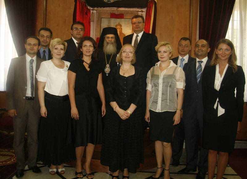 غبطة البطريرك, الوزير والطاقم الاوكراني