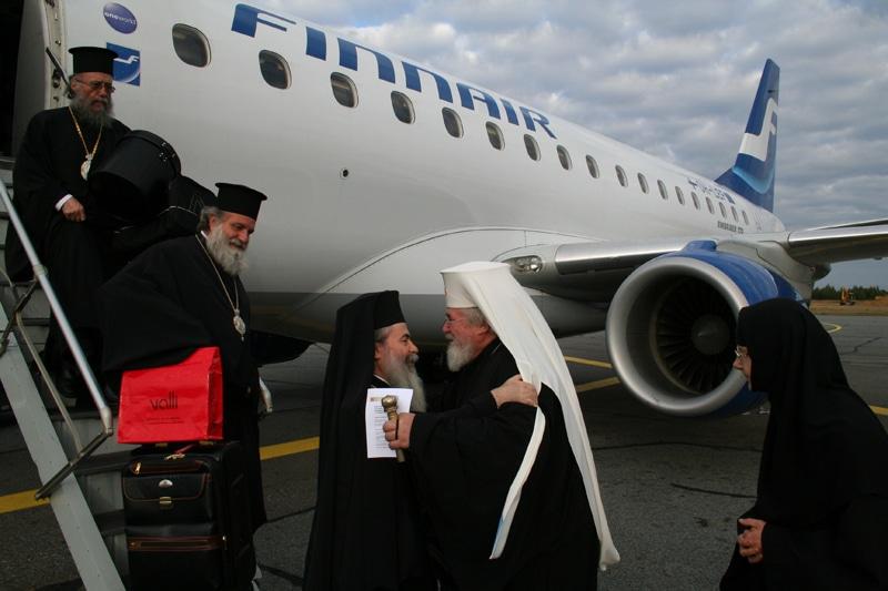 سيادة رئيس اساقفة كاريليا وسائر فنلندا ليوندوس يستقبل غبطة البطريرك