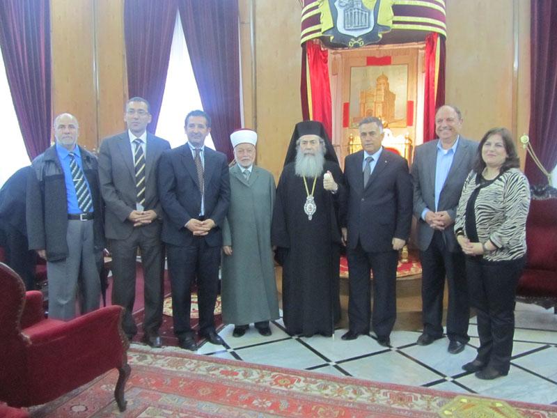 غبطة البطريرك وممثلي السلطة الفلسطينية