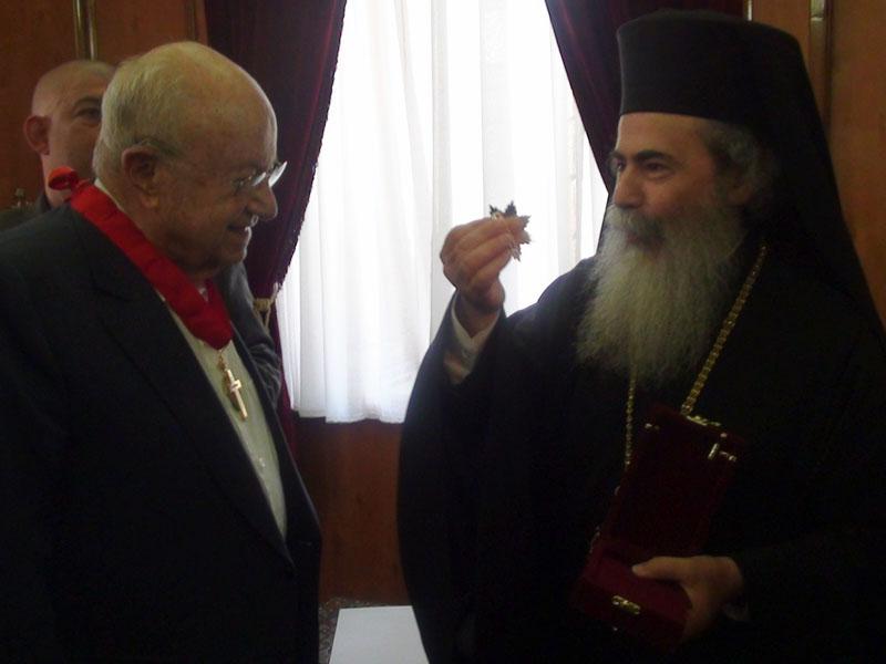 السيد سعيد خوري وبطريرك ارشليم ثيوفيلوس الثالث