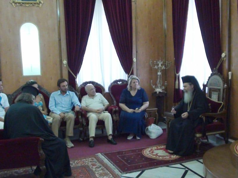 غبطة البطريرك رجال الاعمال وممثلي وزارة السياحة اليونانية