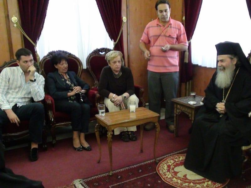 غبطة البطريرك مع الزوار من جمهورية صرب البوسنة