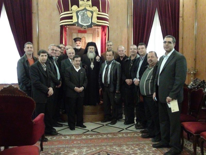 غبطة البطريرك ووفد من مجلس طائفة ابو سنان