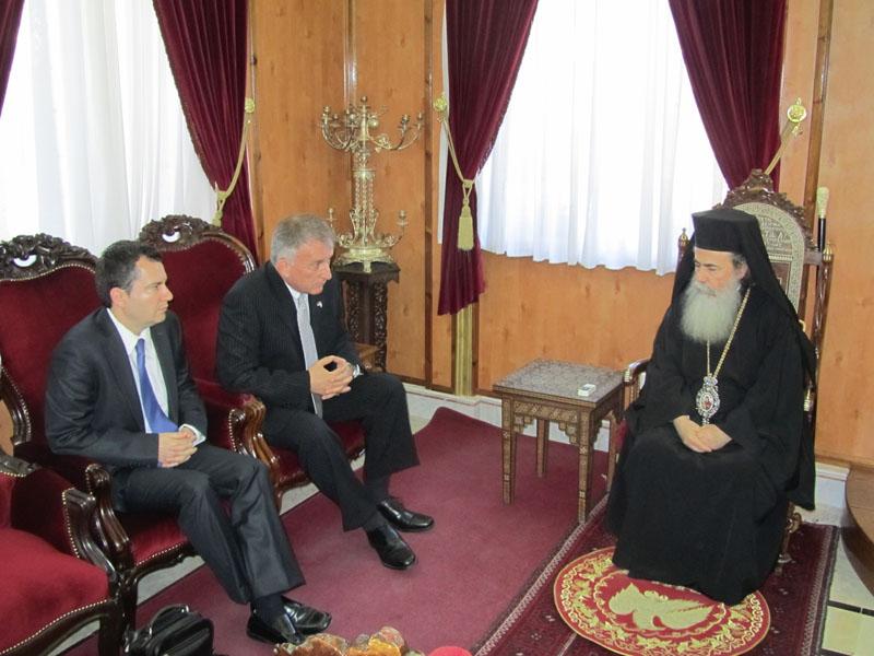 غبطة البطريرك والسفير الصربي الجديد في اسرائيل