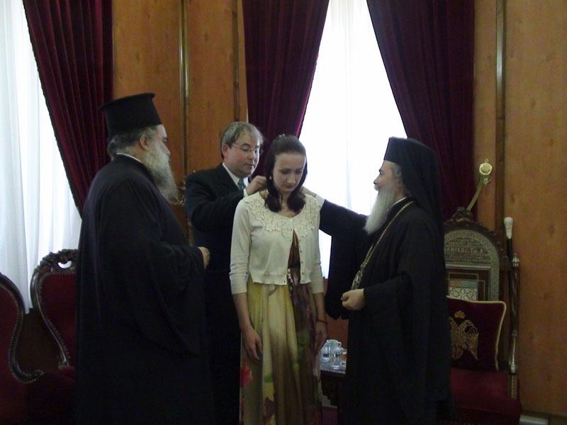 ابنة رئيس جمهورية صربسكا تزور البطريركية الارثوذكسية في اورشليم