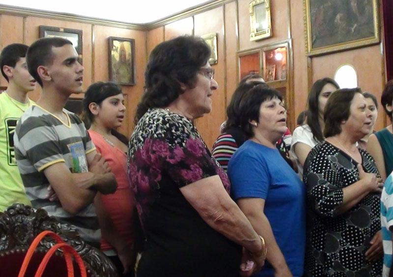 جوقة شبيبة يافة الناصرة تزور البطريركية الارثوذكسية