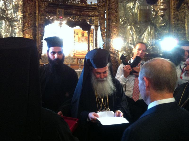 فلاديمير بوتين الرئيس الروسي يزور الاراضي المقدسة