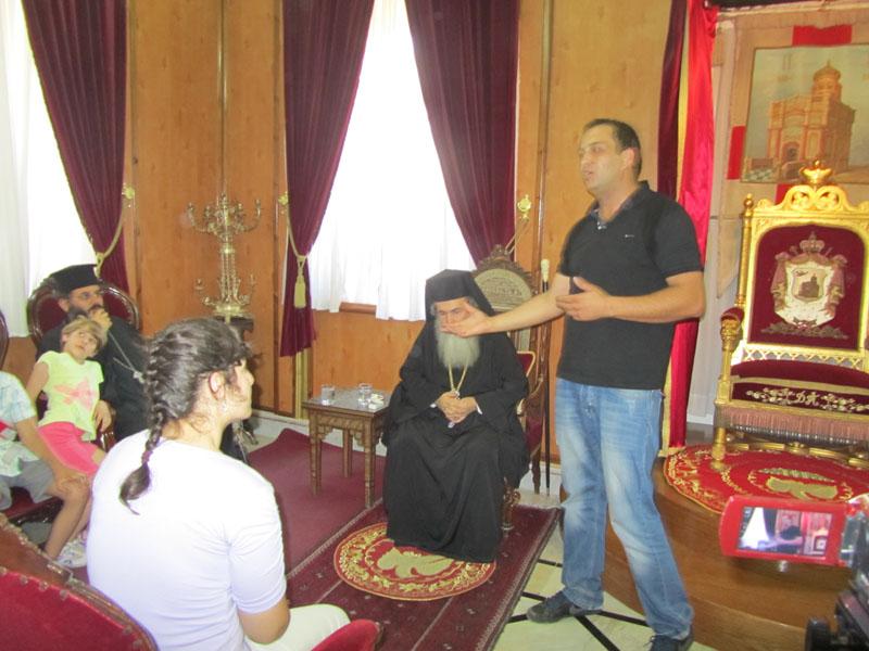 شبيبة الروح القدس الارثوذكس الرينة تزور البطريركية الارثوذكسية