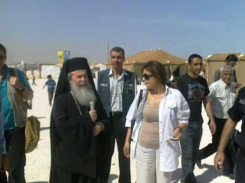 بطريركية أورشليم وكنيسة قبرص في تعاون من اجل مساعدة اللاجئين السوريين في الأردن