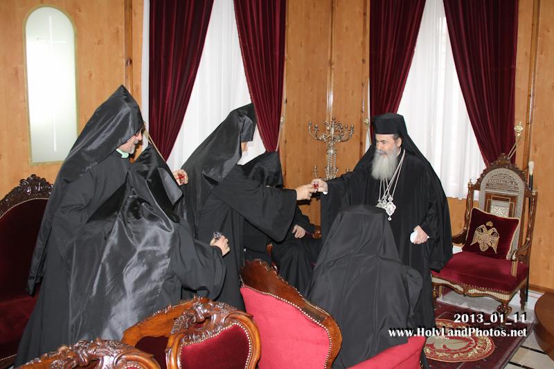 بطريركية الارمن في القدس تزور بطريركية الروم الارثوذكسية