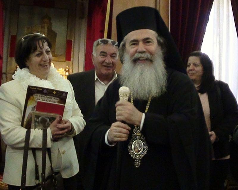 غبطة البطريرك واعضاء من طائفة كفركنا لروم الارثوذكس