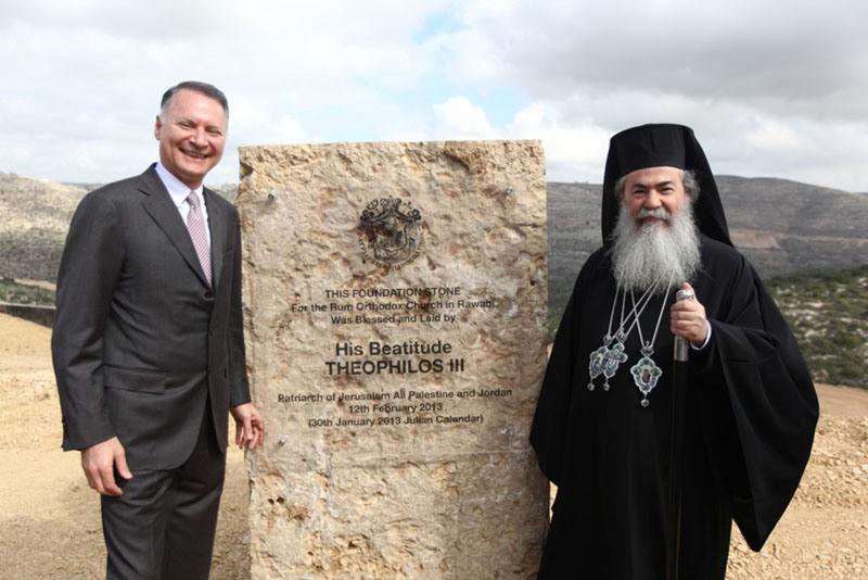 وضع حجر الأساس لكنيسة أرثوذكسية في مشروع روابي