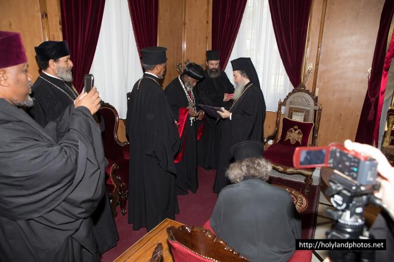 رئيس الاساقفة الاثيوبي في القدس في بطريركية الروم الارثوذكسية