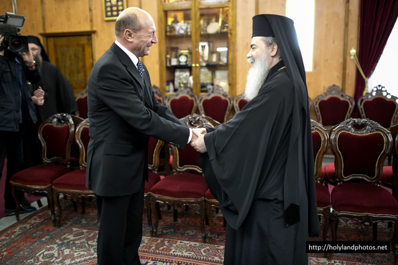 رئيس دولة رومانيا يزور البطريركية الاورشليمية