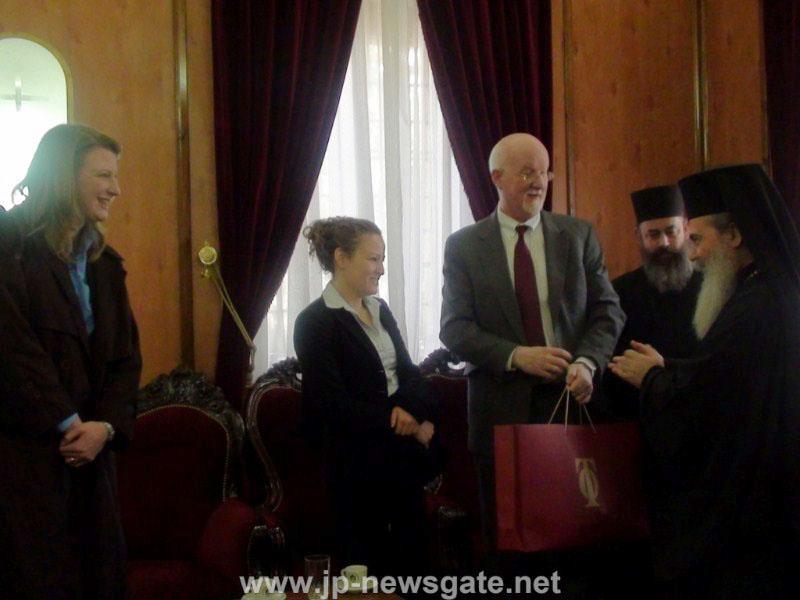 السيد شاون كازي الممثل الامريكي في الشرق الاوسط يزور بطريركية الروم الارثوذكسية