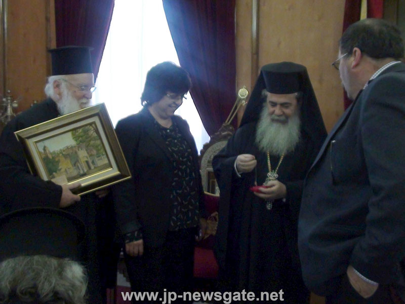 نيافة مطران الناصرة واعضاء مجلس طائفة الناصرة الروم الارثوذكسي في بطريركية الروم الارثوذكسية