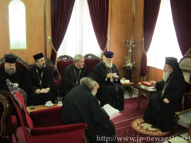 اعادة الاتصال الكنسي والتعاون بين بطريركية الروم الاورشليمية وبطريركية رومانيا