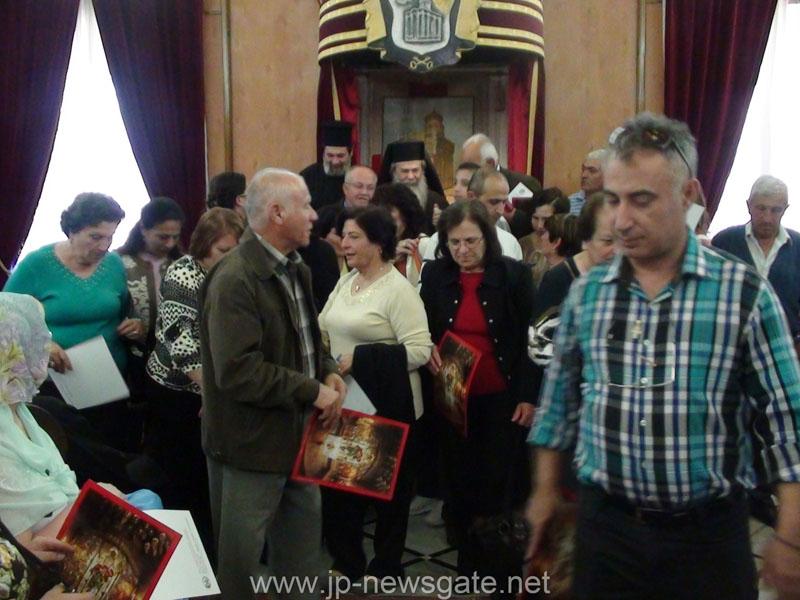 طائفة البقيعة الأرثوذكسية تزور بطريرك المدينة المقدسة