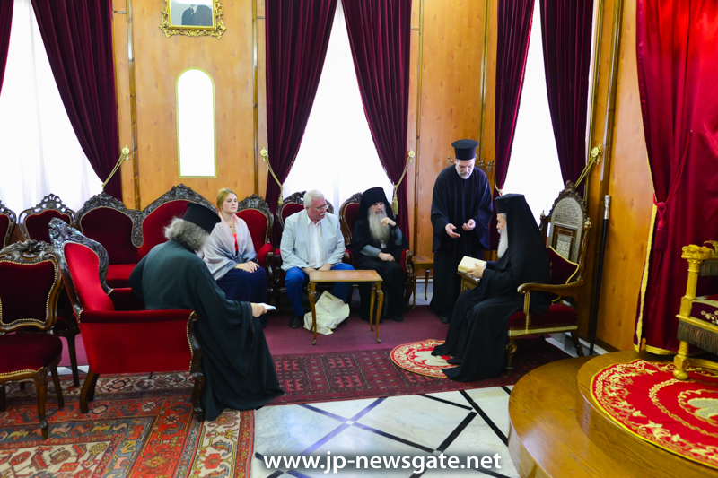 0001نائب رئيس الشركة القيصرية الروسية-الفلسطينية يزور البطريركية