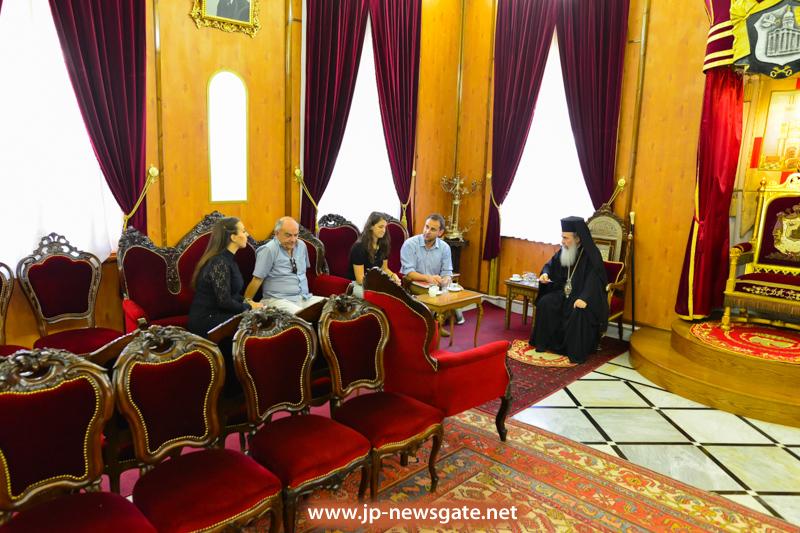 0001مجموعة ازالة الالغام التابعة للامم المتحدة تزور البطريركية
