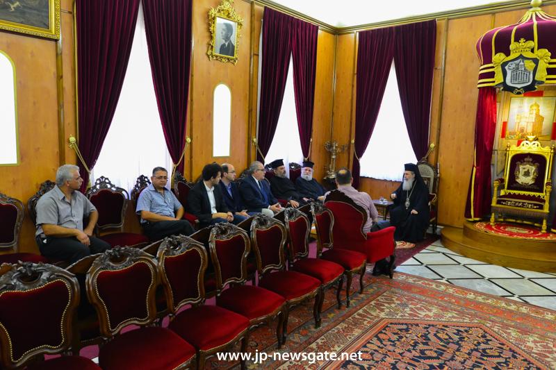0001وفد من ممثلي المعهد التكنولوجي من اليونان يزور البطريركية