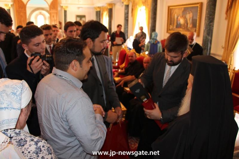 01مجموعة من طلاب جامعة اللاهوت في صربيا تزور البطريركية