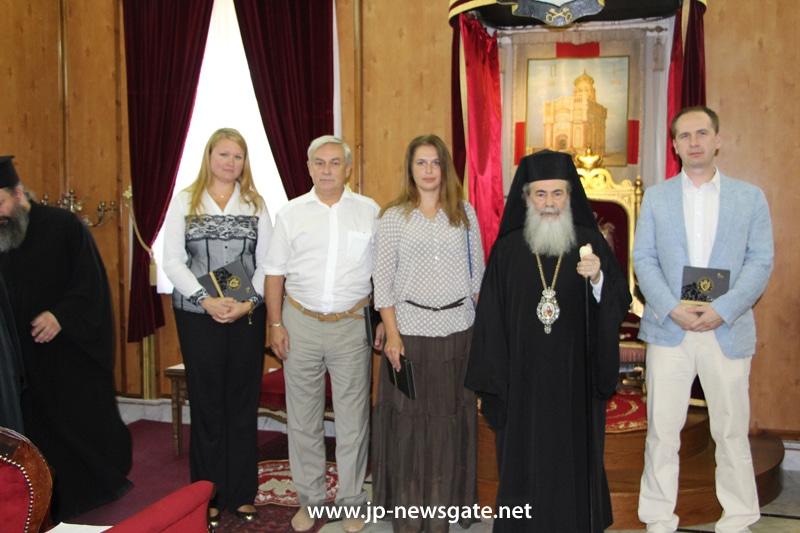 """01رئيس الجمعية الخيرية الروسية """"ميشين"""" يزور البطريركية الاورشليمية"""