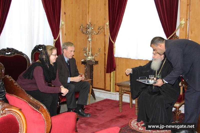 01ممثل الجمهورية ألالمانية ألاتحادية في رام الله يزور البطريركية