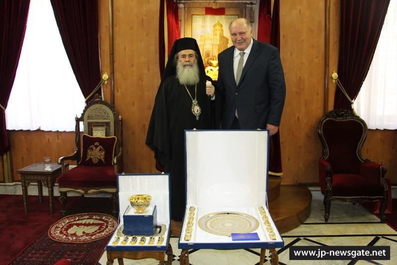 01السفير الروسي في اسرائيل يزور البطريركية