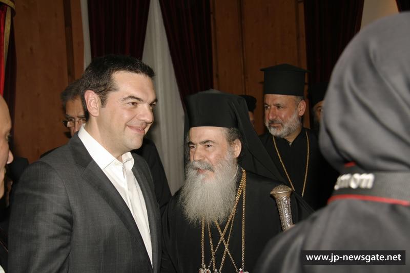 01رئيس وزراء اليونان يزور البطريركية الاورشليمية