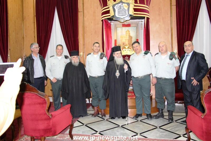 01 (1)القائد العسكري العام في اسرائيل يزور البطريركية