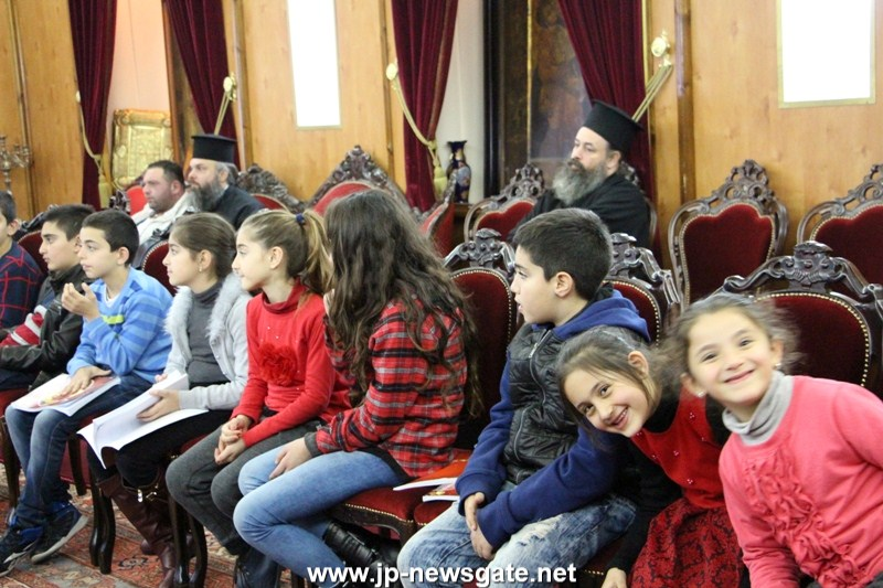 01-1جوقة الطلاب الابتدائية في عبلين تزور البطريركية