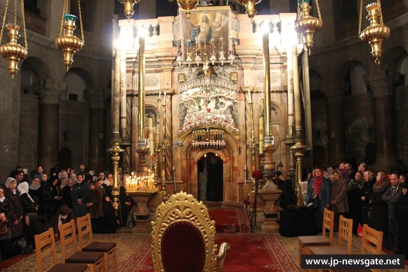 01ألاحتفال بعيد ختان ربنا يسوع المسيح بالجسد وعيد القديس باسيليوس في كنيسة القيامة