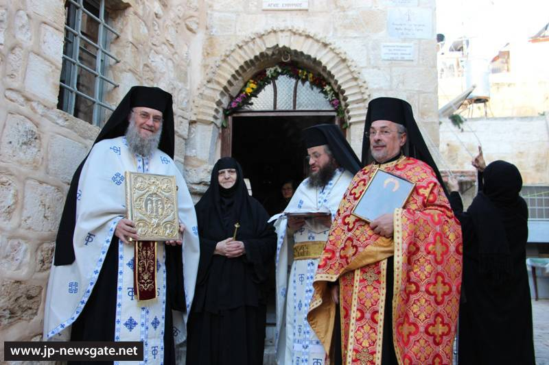 001ألاحتفال بعيد القديس إفثيميوس في البطريركية ألاورشليمية