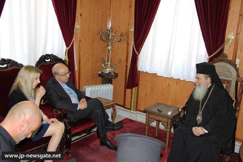 01رئيس البرلمان القبرصي في البطريركية ألاورشليمية