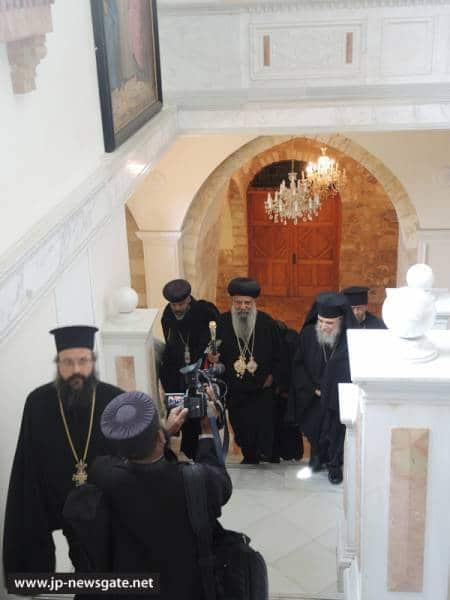 01زيارة بطريرك الكنيسة ألاورثوذكسية ألأثيوبية الى البطريركية ألاورشليمية