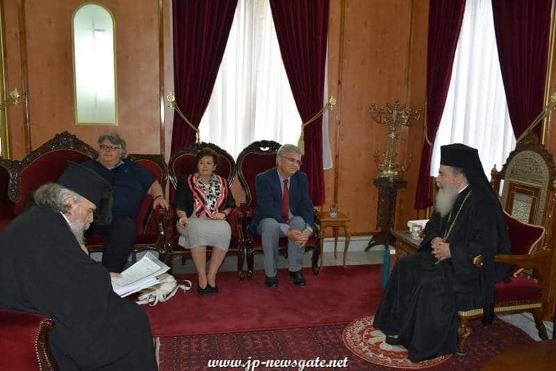 01مُفَتش وزارة التعليم في قبرص يزور البطريركية