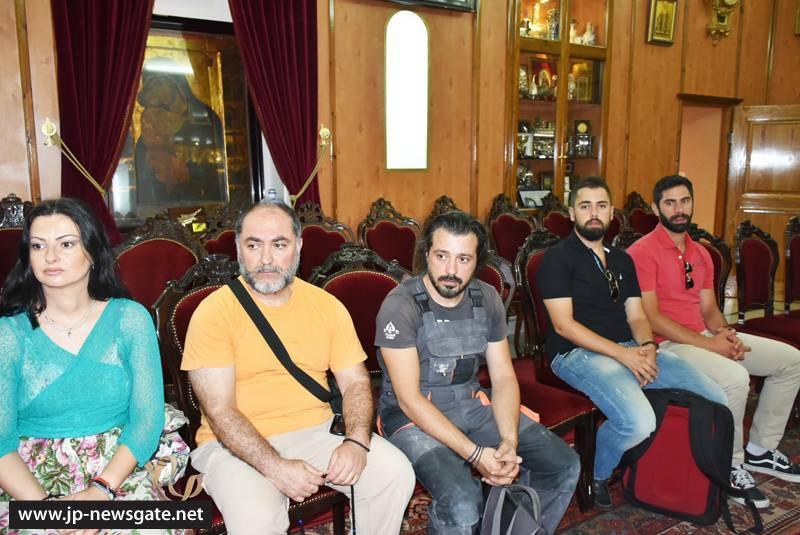 02مجموعة من طلاب جامعة البوليتخنيون في أثينا تزور البطريركية