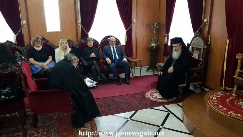 01رئيس البرلمان القبرصي يزور البطريركية