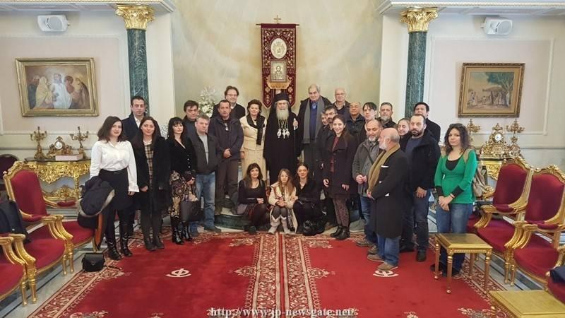 12زيارة الطاقم العلمي المشرف على مشروع إصلاح القبر المقدس للبطريركية