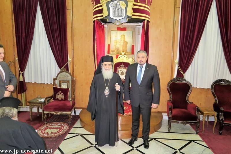 02وزير الخارجية ونائب رئيس الوزراء دولة مولدافيا يزور البطريركية