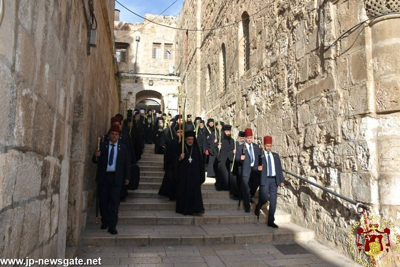 04الإحتفال بأحد الشعانين في البطريركية الأورشليمية