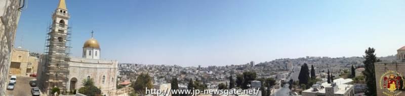 BJ-photos (1)[1089]1. بانوراما لمدينة بيت جالا، وكنيسة القديس نيقولا يقبابها العالية إلى اليسار