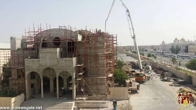 01بناء قبة الكاتدرائية في الدوحة