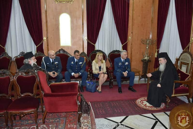 01قائد سلاح الجو اليوناني يزور البطريركية