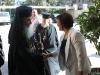 البطريرك ثيوفيلوس والمديرة السيدة سهى كاخواتزي