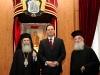غبطة البطريرك,ووزير الخارجية اليوناني وسيادة متروبوليت كيسارية باسيليوس