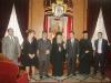 صورة تذكارية خلال زيارة قائد الشرطة في البطريركية