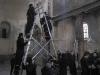 صورة خلال اعمال التنظيف في كنيسة المهد